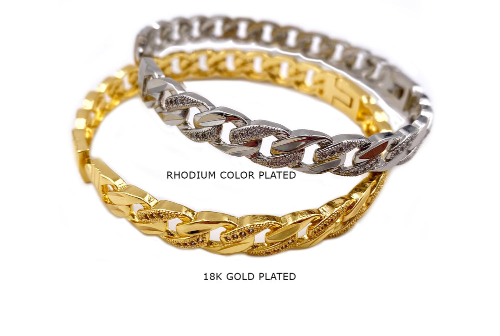 MP4013 Paved Rhinestone Chain Bangle