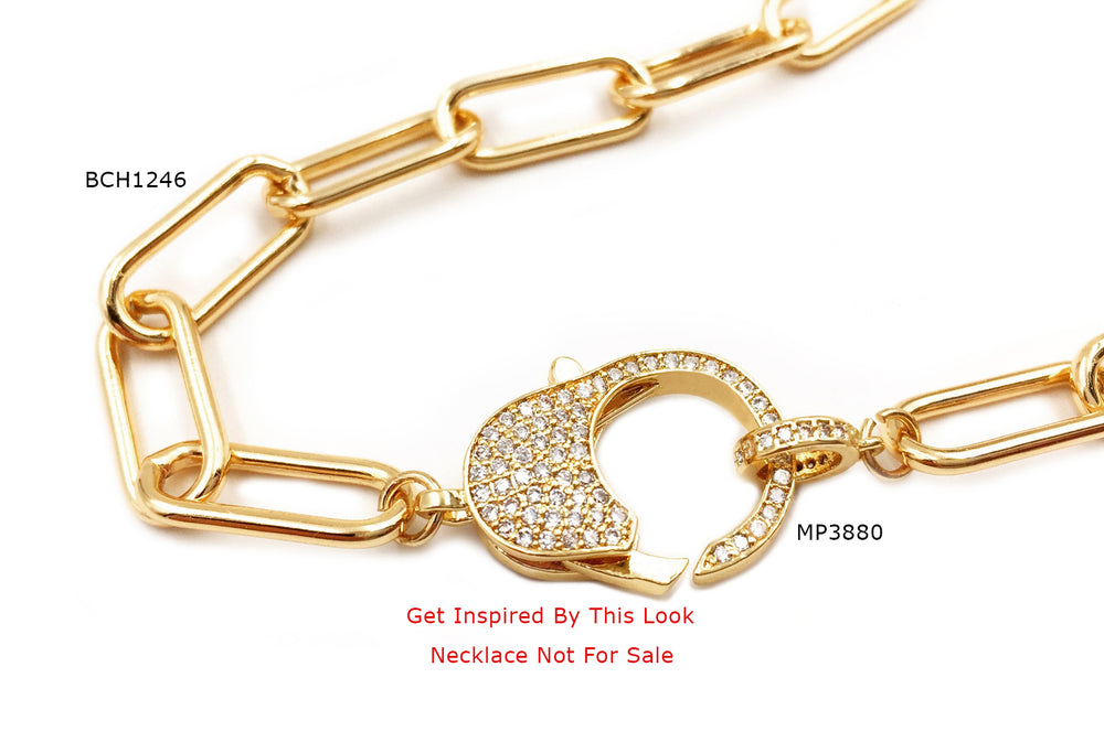 MP3880 Micro Pave Cubic Zriconia Lobster Clasp/Pendant CHOOSE COLOR BELOW