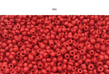SBDF1006 Matt Finish 6/0 Seed Bead CHOOSE COLOR BELOW