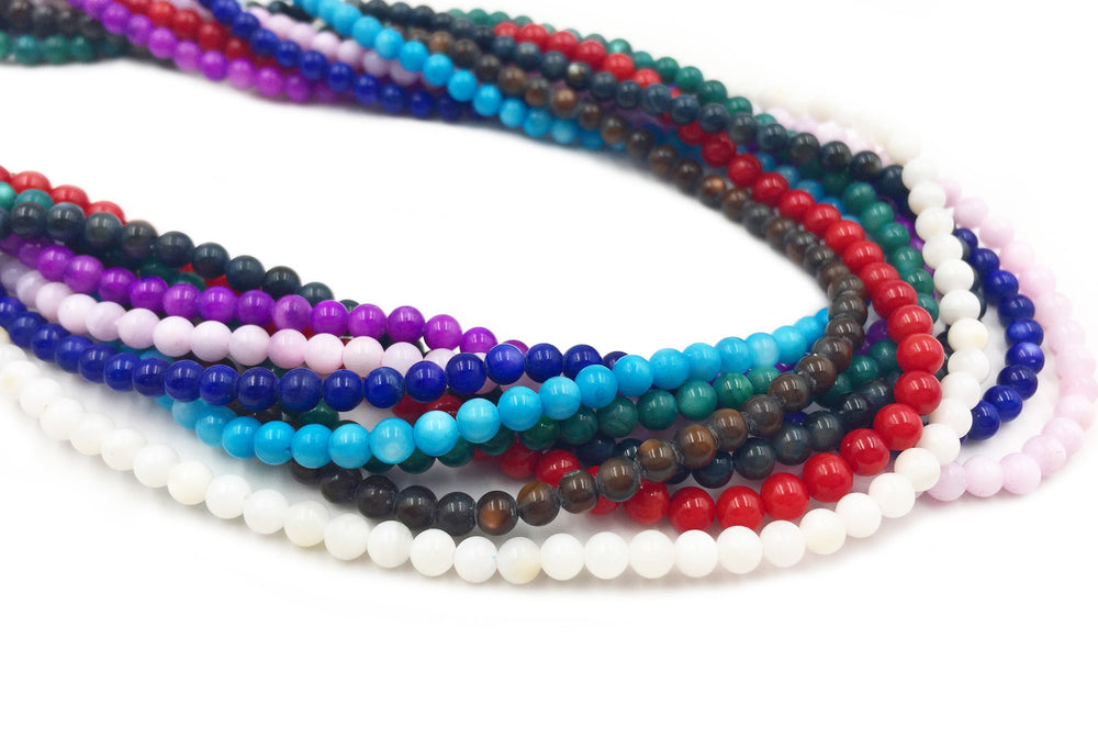 SP1046 4mm Round Shell Beads