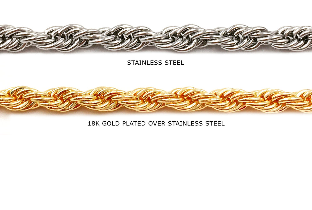 SSC1043 Twisted Rope Chain CHOOSE COLOR BELOW