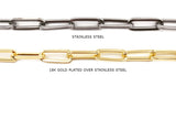 SSC1068 Stainless Steel Flat Oval Link Chain