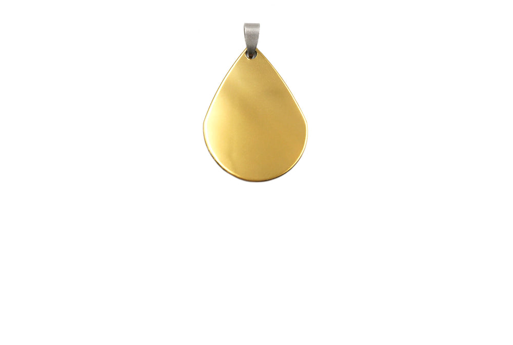 SSP1156 Stainless Steel Blank Tear Drop Blank Pendant With Bail