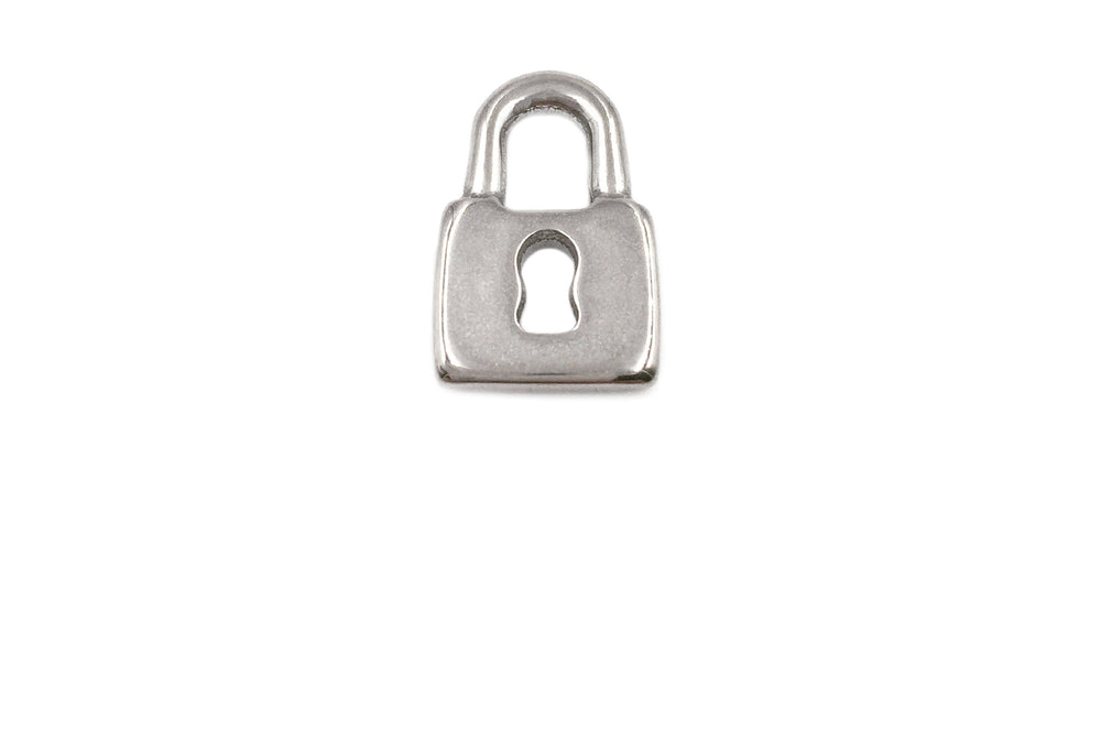 SSP1195 Stainless Steel Padlock With Key Charm/Pendant