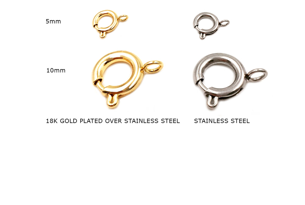 SSP1217-18 Spring Ring Clasp CHOOSE COLOR & SIZE BELOW