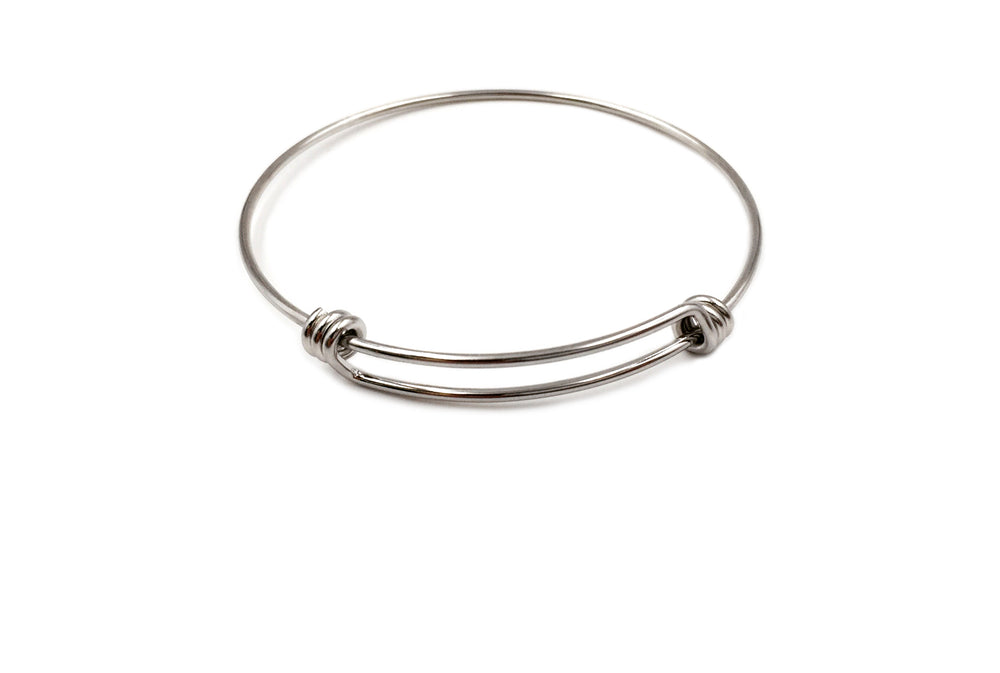 SSP1230 Expandable Bangle Bracelet Ready To Add Charms