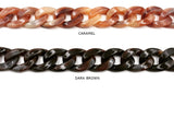 AC1008 Acrylic/Plastic Curb Chain CHOOSE COLOR BELOW