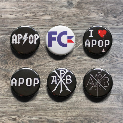 Apoptygma Berzerk ‎– Set Of 6 Buttons