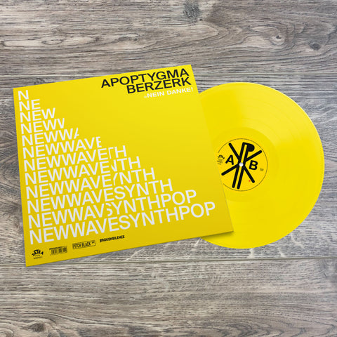 "Apoptygma Berzerk ""Nein Danke!""  12"" EP (Solid Yellow Vinyl) SOLD OUT!!!"
