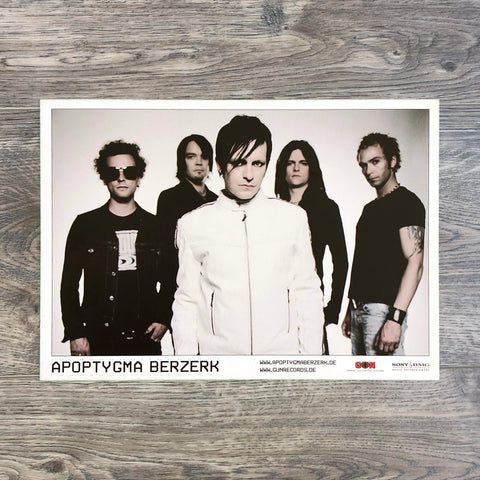 "Apoptygma Berzerk ""You And Me Against The World""-era  Band Promo Post Card."