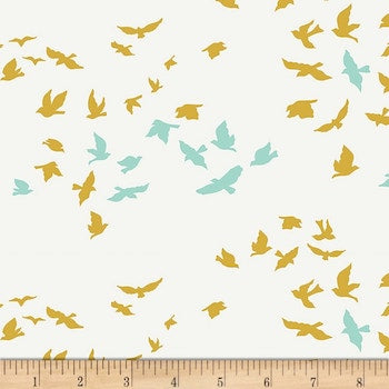 Aves Chatter - Cream $11.75/ Yard