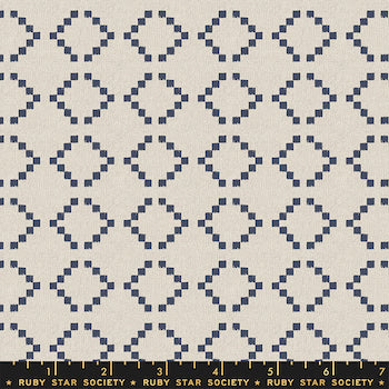 Warp Weft Wovens - Navy & White $12.99/ Yard