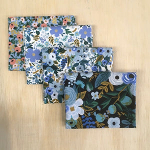 Rifle Paper Co - 4 Fat Quarters Garden Party Blue