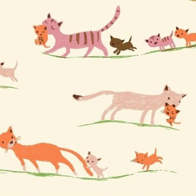 Morning Cats- Cream $11.75/ Yard