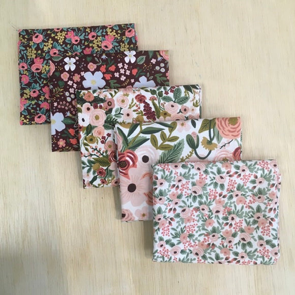 Rifle Paper Co - 5 Fat Quarters Garden Party Pink