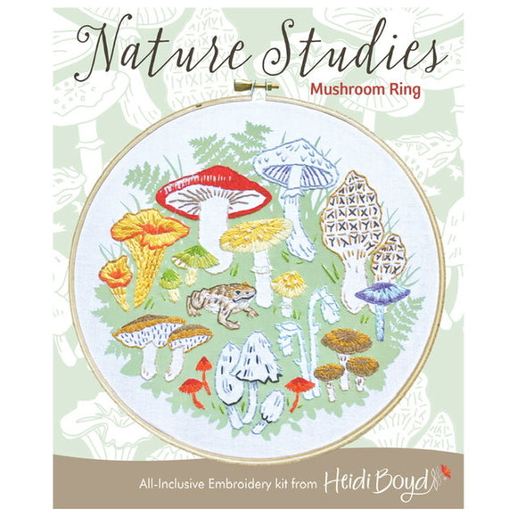 Mushroom Ring Embroidery Kit