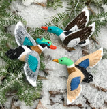 Mallard, Merganser and Wood Duck Ornaments
