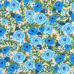 Laguna Jersey - Blue Flowers $18.49/ Yard