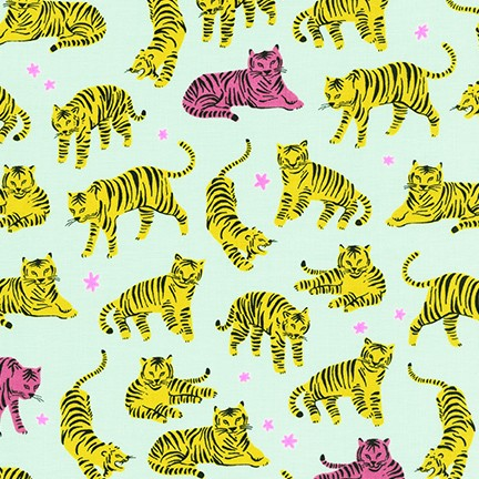 Wild and Free Tigers Sunshine $11.75/ Yard