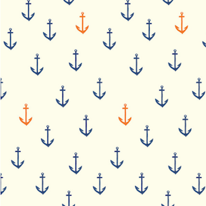Birch Organics - Anchors Aweigh - Double Gauze $17.25/ Yard