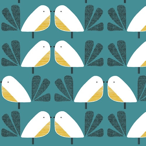 Nesting Birds - Teal $13.99/yd