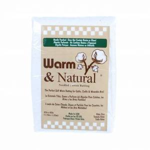 "Warm & Natural Cotton Quilt Batting - Baby Size 45"" x 60"" Pick Up Only"