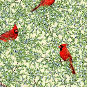 Birds and Berries of Maine - Cardinal  $12.49/ Yard