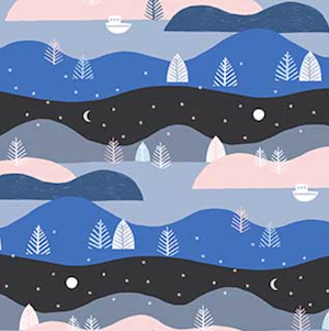 Moonlit Voyage - Back $11.49/ Yard
