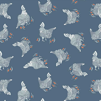 Chickens - Teal  $11.75/ Yard