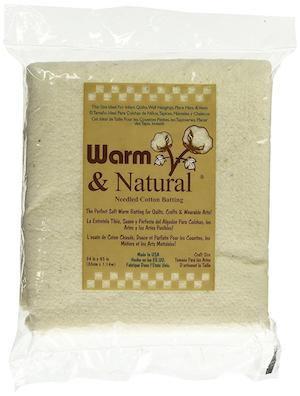 Warm & Natural Cotton Quilt Batting - Craft Size 34