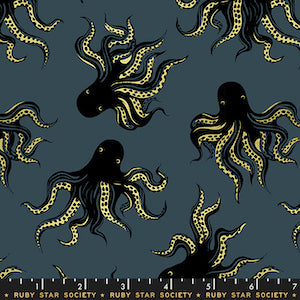 Ruby Star Society - Metallic Octopus Smoke $12.99/ Yard