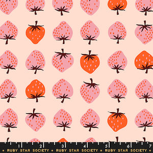 Ruby Star Society - Peach Berries $12.99/ Yard