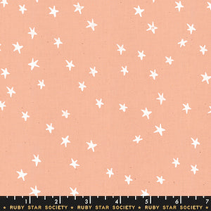 Ruby Star Society - Peach Stars $12.99/ Yard