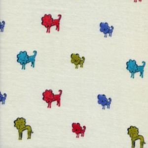 Double Gauze-  Dog Lions - Blue $18.75/ Yard