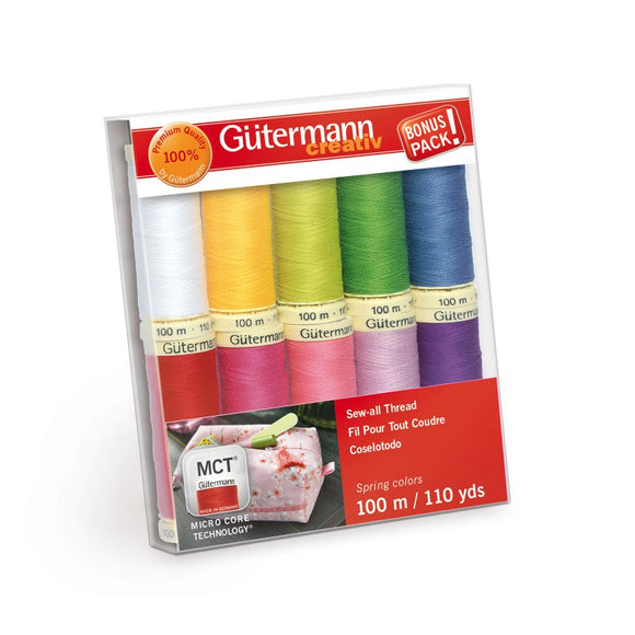 Gutermann Polyester Thread- Spring Box Set