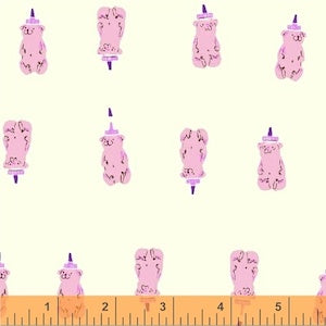 Honey Bears - Pink $11.75/ Yard