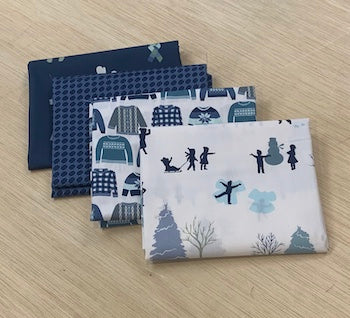 Snow Day - 4 Fat Quarter Bundle