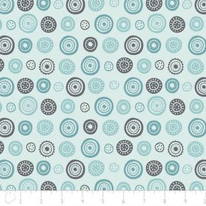 Josephine Circles - Blue $11.49/ Yard