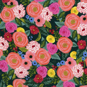 Juliet Rose - Navy - Rayon - $15.25/ Yard