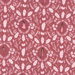 Girls Are Much Too Clever - Rose - $12.49/yd