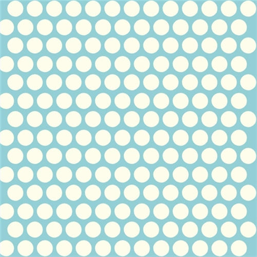 Mod Basics Dots Teal - 16.50/ Yard ORGANIC