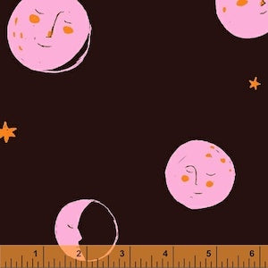Moons - Black $11.75/ Yard