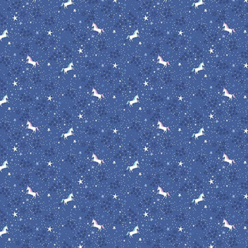 My Unicorn Starry Night - Blue $11.49/ Yard
