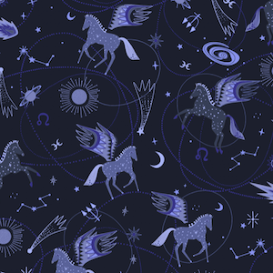 Astro Pegasus - Midnight Blue $11.99/ Yard