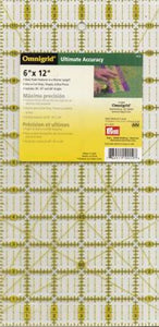 "Omnigrid Clear Ruler 6"" x 12""  - Pick Up Only"