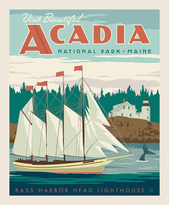 National Parks Poster Panel Acadia $13.49/ Yard PRE-ORDER