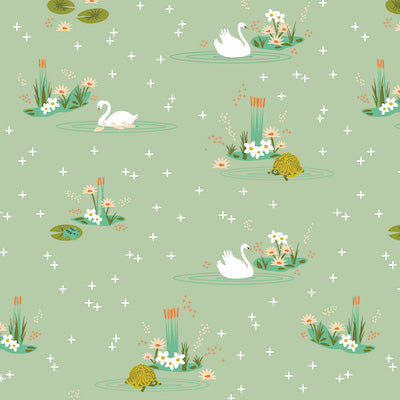 Swan Lake Main Mint - 16.50/ Yard ORGANIC