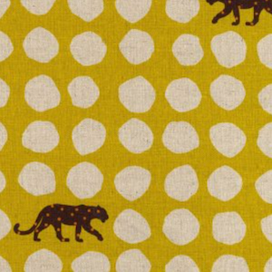 Japanese Linen : Panther Yellow $20.99/yd