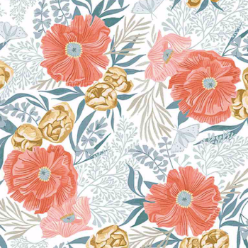 Poppies - White $11.75/ Yard