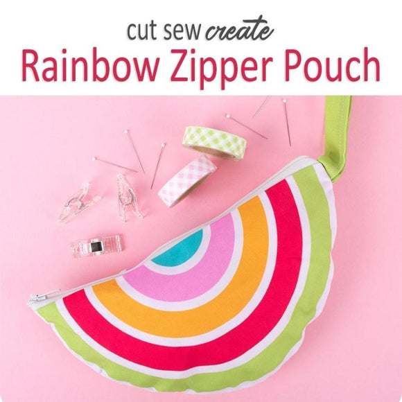 Rainbow Zipper Pouch Panel